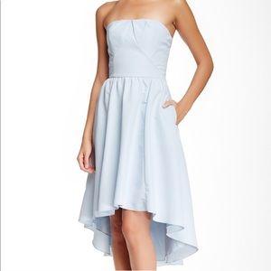 082b3311ba0b6   Ted Baker   Verity Blue High Low strapless dress